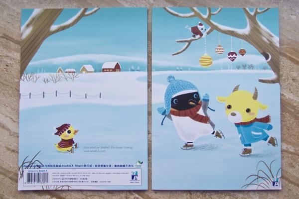 Double A 授權筆記本 冬日滑冰趣