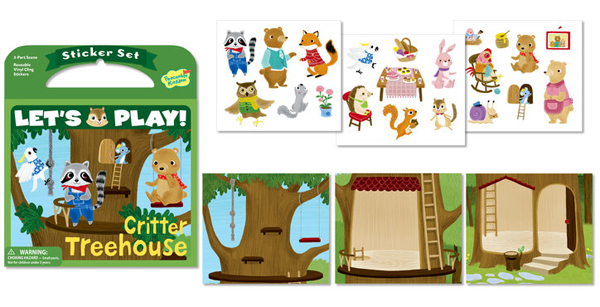 Peaceable Kingdom靜電貼紙組 Critter Treehouse