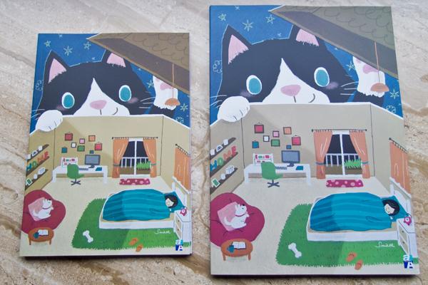 Double A 授權筆記本 夜裡來訪的貓