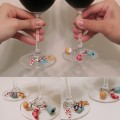 聖誕紅酒杯掛飾 Christmas wine charms